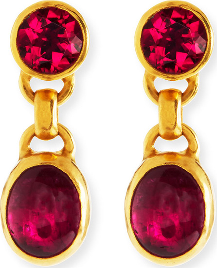GURHAN 24k Tourmaline Double Drop Earrings