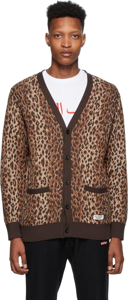 Wacko Maria Brown & Beige Leopard Jacquard Cardigan