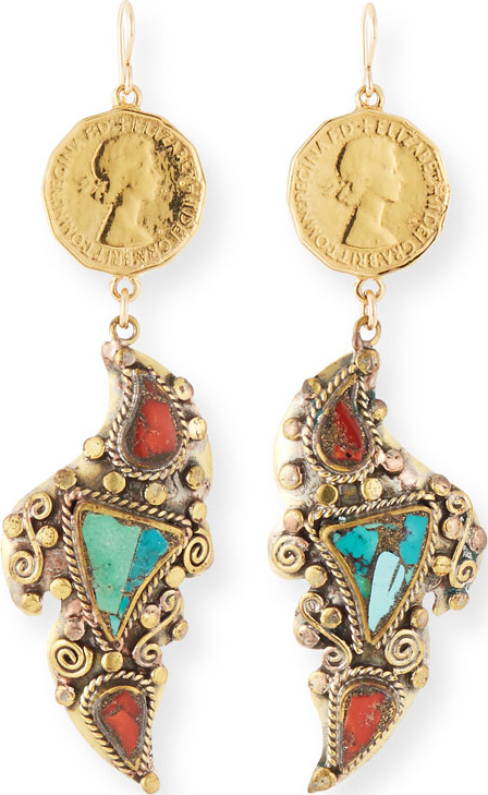 Devon Leigh - Coin Dangle Earrings