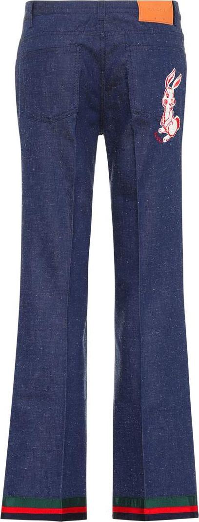 Gucci Appliquéd flared jeans