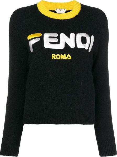 Fendi Fendi Mania cropped logo sweater