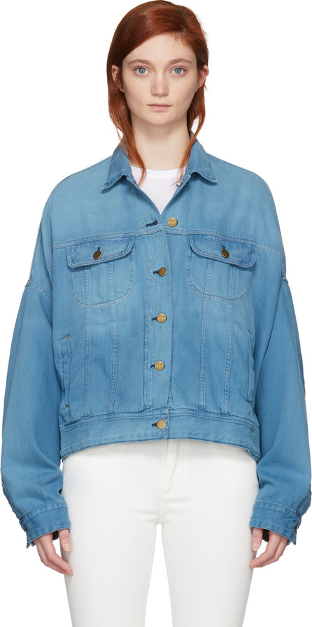 Acne Studios Blå Konst Blue Denim Salt Jacket