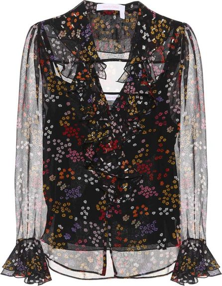 See By Chloé Printed silk blouse