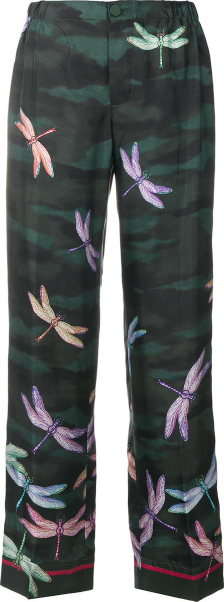F.R.S For Restless Sleepers Dragonfly print trousers