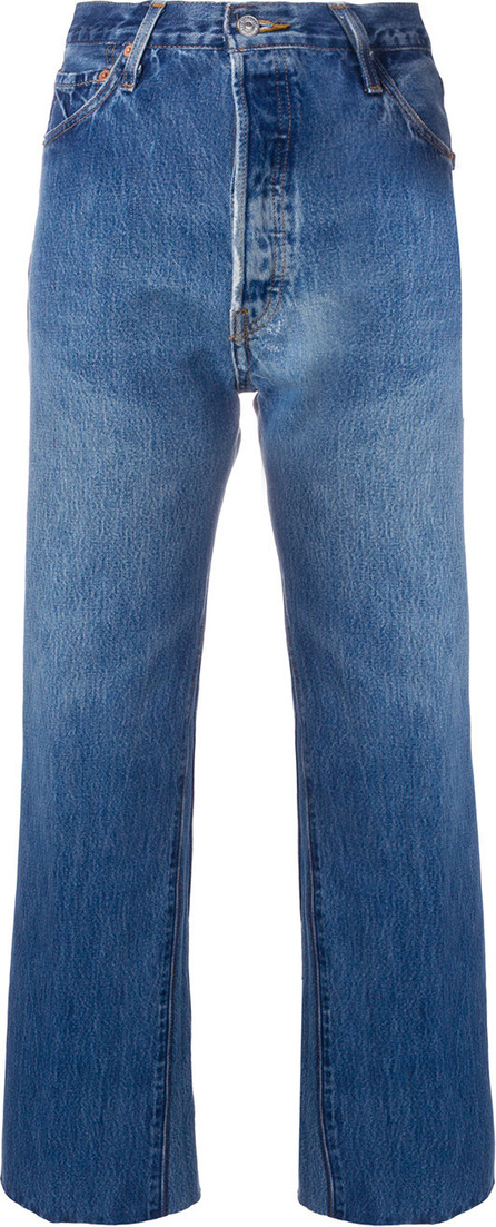 RE/DONE Stonewashed high rise jeans