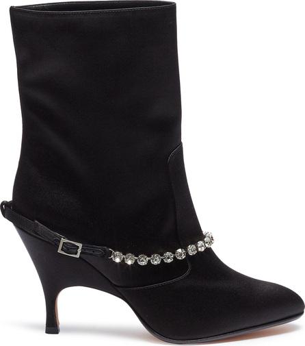 Alchimia Di Ballin 'Ruta' glass crystal belt mid calf boots