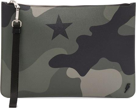 Neil Barrett Camouflage-print clutch bag