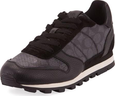 COACH Men's C118 Runner Signature Low-Top Leather Sneakers