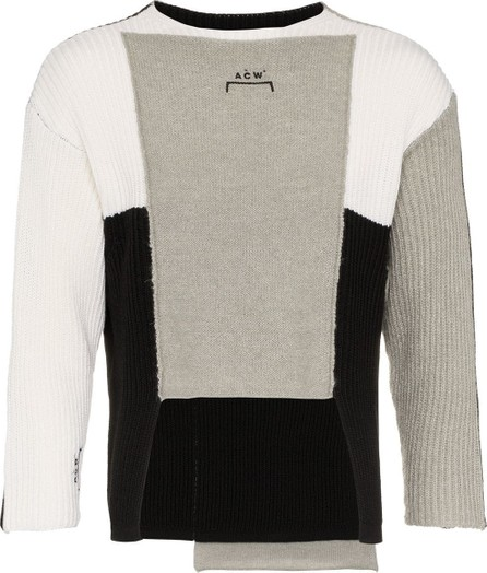 A-Cold-Wall* Panelled asymmetric merino blend jumper