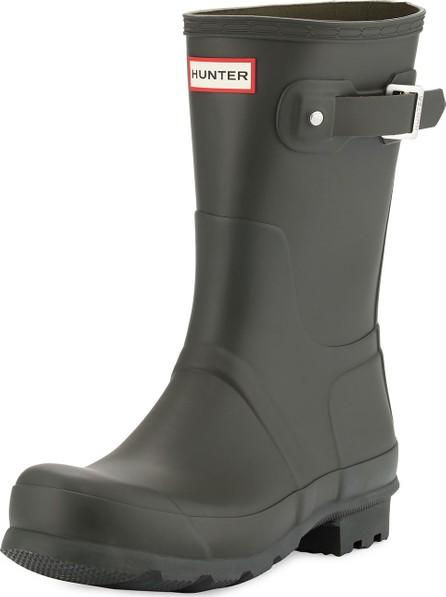 Hunter Boots Men's Original Short Boots, Dark Olive