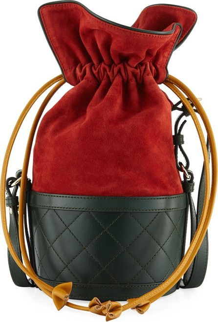 Carven Suede and Leather Bucket Bag