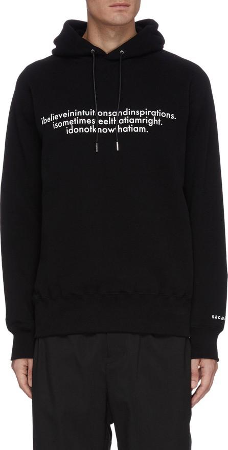 Sacai Einstein' slogan print hoodie