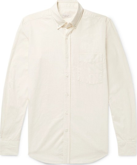 Incotex Button-Down Collar Textured-Cotton Shirt