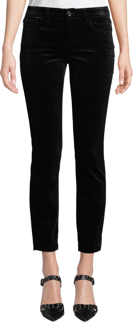 Dolce & Gabbana Pretty Fit Mid-Rise Straight-Leg Velvet Pants