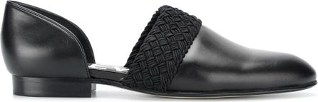 LOEWE woven trim slippers