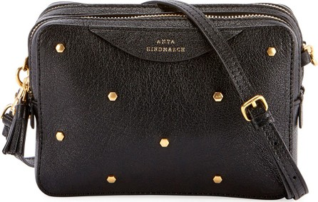 Anya Hindmarch Double Studded Crossbody Wallet, Black