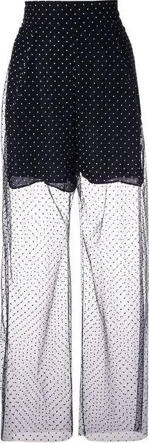 Carmen March sheer polka dot trousers