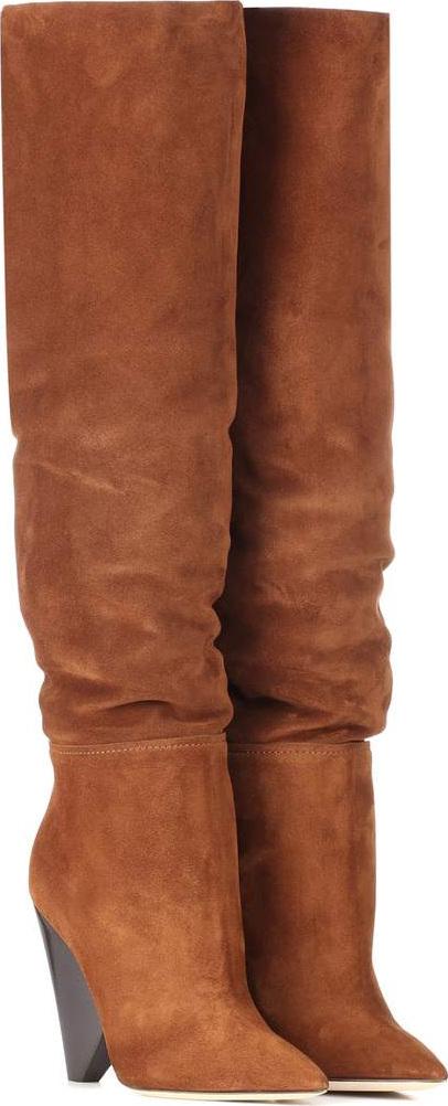Saint Laurent - Niki 105 suede boots
