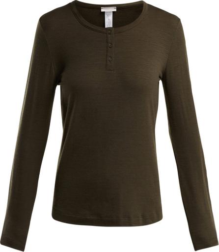 Hanro Hanna wool-blend jersey henley top