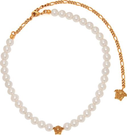 Versace Medusa faux-pearl necklace