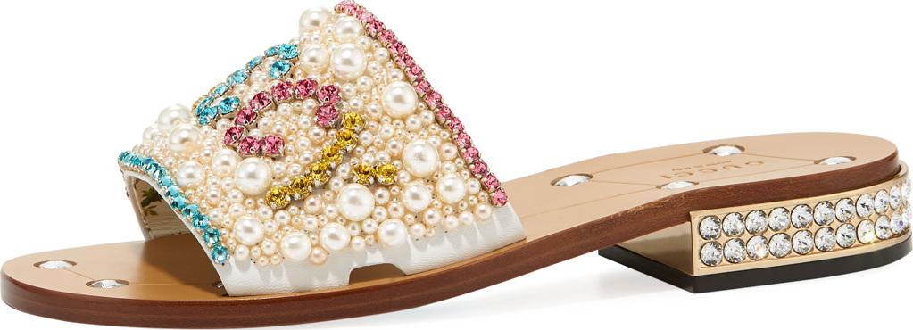 f90d29f1b868 Gucci Guccy Jeweled Sandals - Mkt
