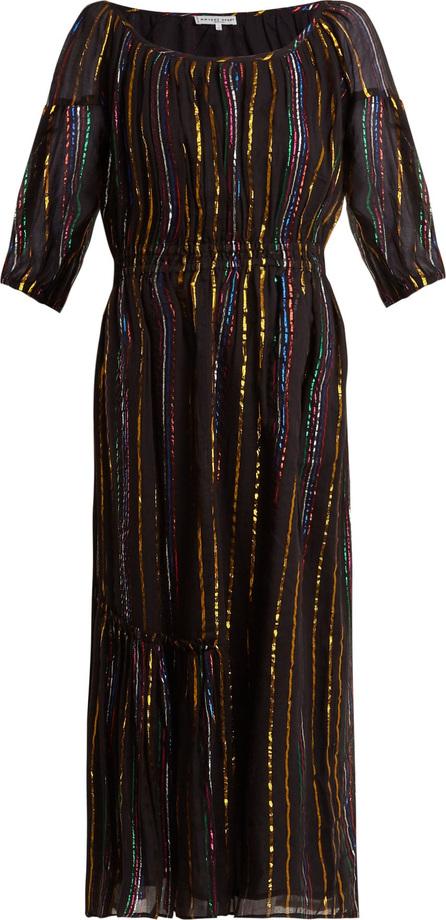 APIECE APART Camellia metallic-stripe dress