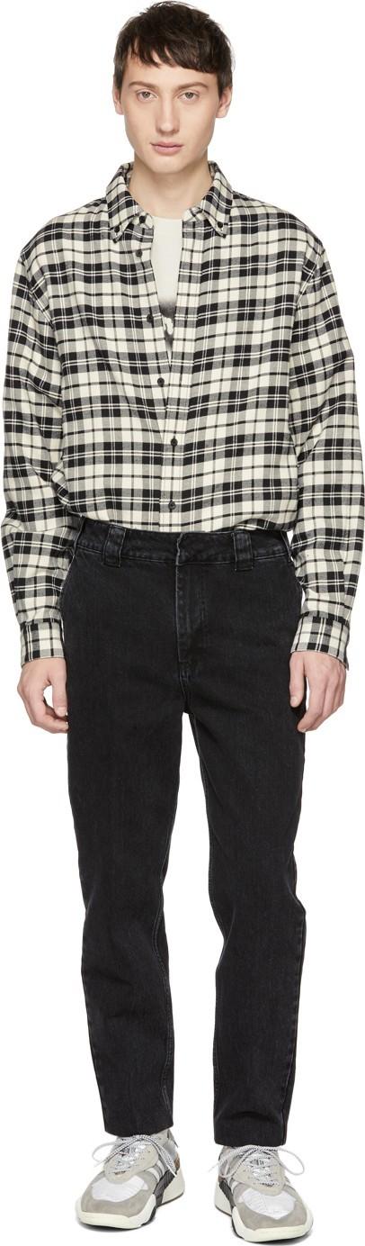 Alexander Wang Black 'Rodeo Drive' Trouser Jeans