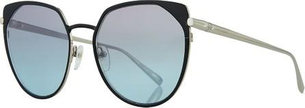 Longchamp Cat-Eye Acetate & Metal Sunglasses