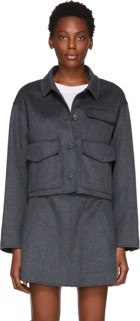 Carven Grey Cashmere & Wool Jacket