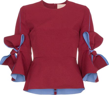Roksanda Kemi crepe bow sleeve blouse