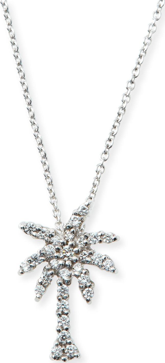 Roberto coin 18k white gold diamond palm tree pendant necklace in roberto coin 18k white gold diamond palm tree pendant necklace aloadofball Images