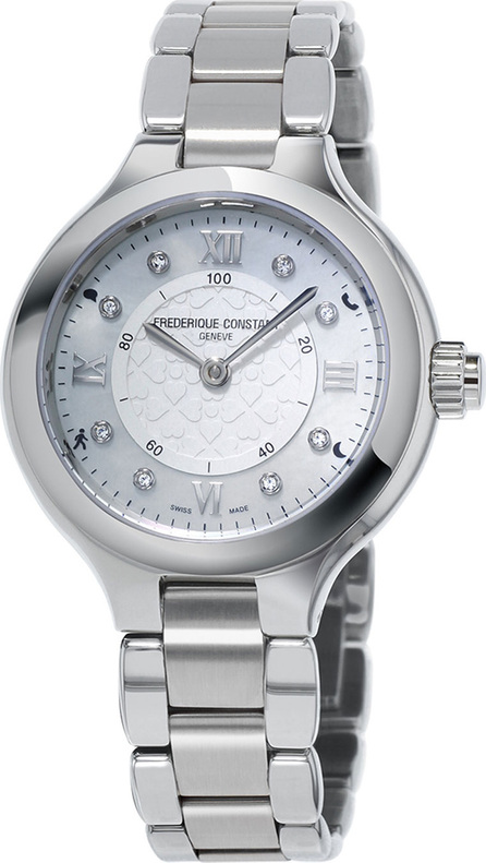 Frederique Constant 34mm Ladies Horological Stainless Steel Smart Watch