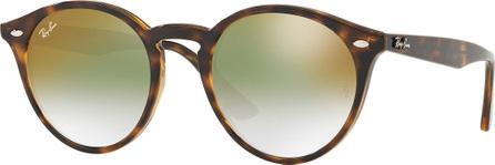 Ray Ban Round Mirrored Iridescent Sunglasses