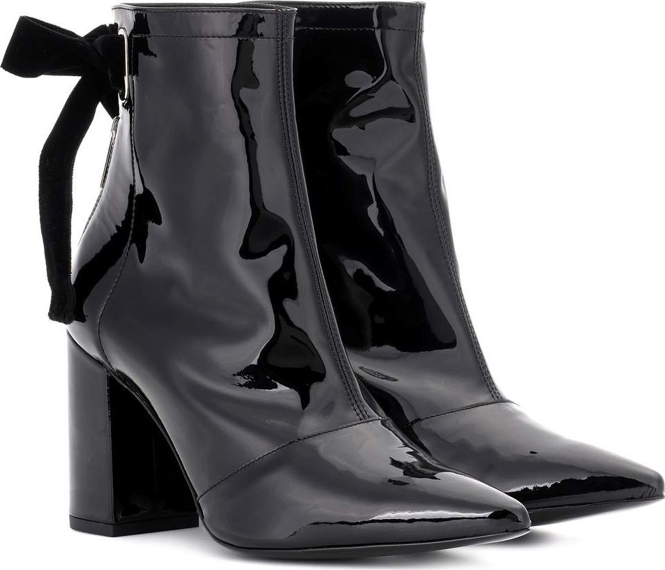 Self Portrait - X Robert Clergerie Karli patent leather ankle boots