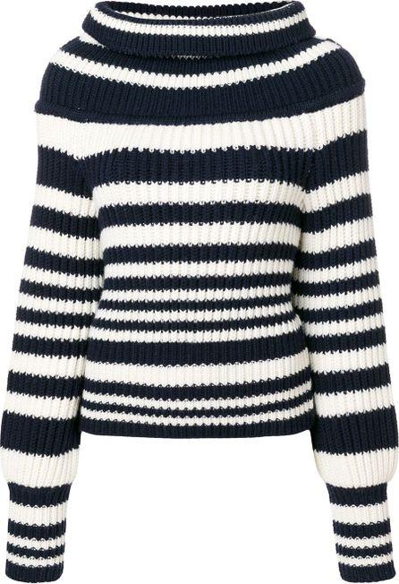 Alberta Ferretti striped knitted jumper