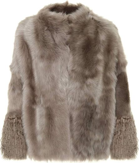 Agnona Reversible leather and fur coat