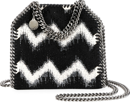 Stella McCartney Tiny Bella Chevron Crystal Falabella Tote Bag