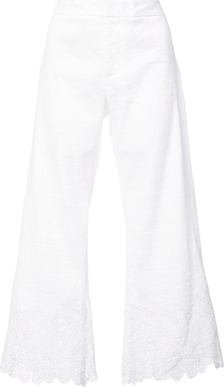 KOBI HALPERIN - Lace detail cropped trousers