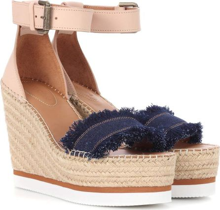 See By Chloé Wedge espadrille sandals