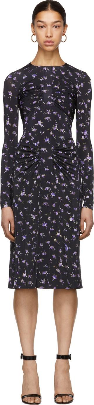 Altuzarra Black & Purple 'Maria Teresa' Dress