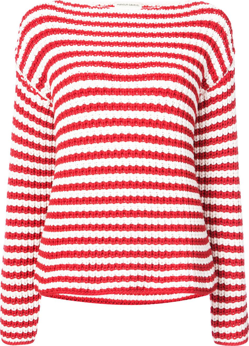 Mansur Gavriel - Striped boatneck sweater