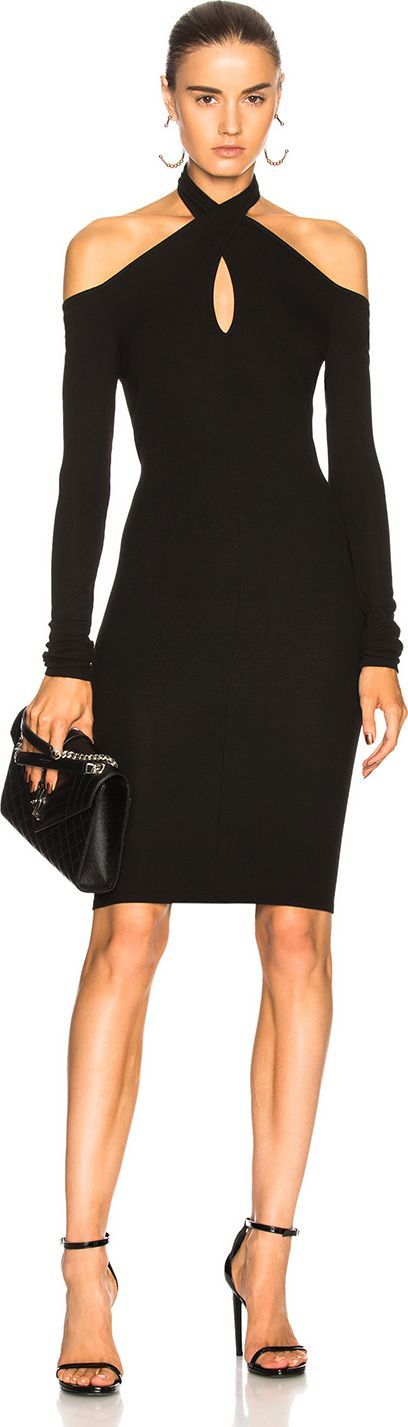 ENZA COSTA Twist Turtleneck Dress