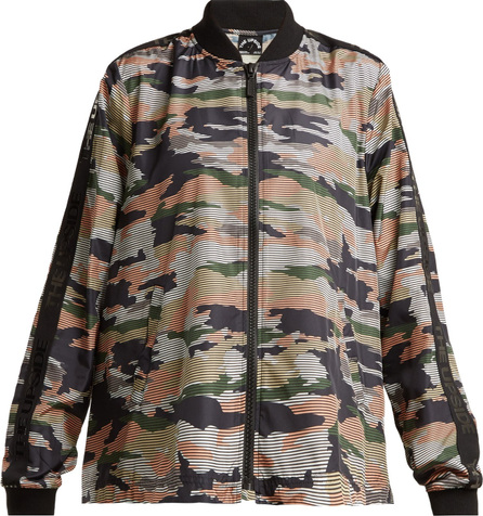 The Upside Striped camouflage-print performance jacket