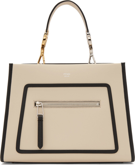 Fendi White Small Runaway Tote Bag