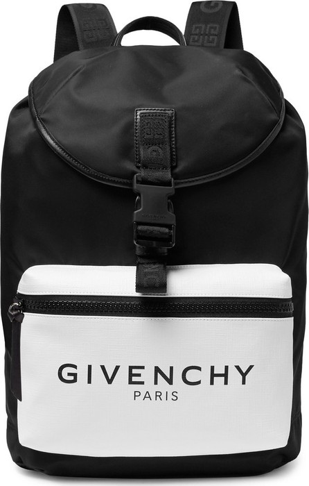Givenchy Glow-in-the-Dark Logo-Print Canvas and Shell Backpack