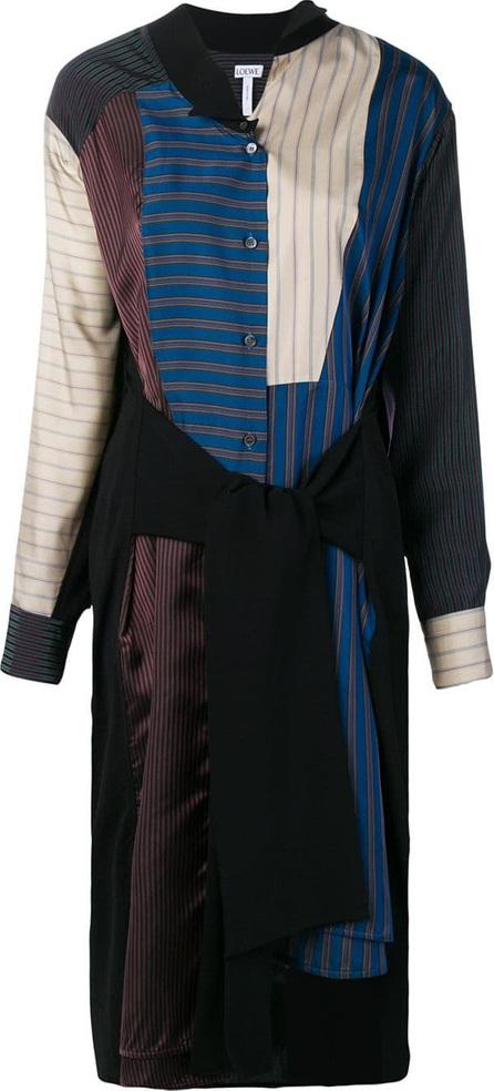 LOEWE Patchwork stripe shirt dress
