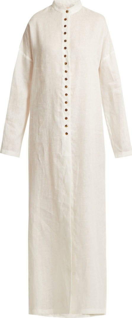 Albus Lumen Sabina button-down linen shirtdress