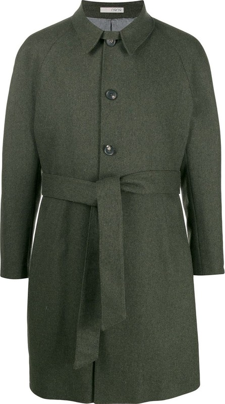 0909 Belted single-breasted coat