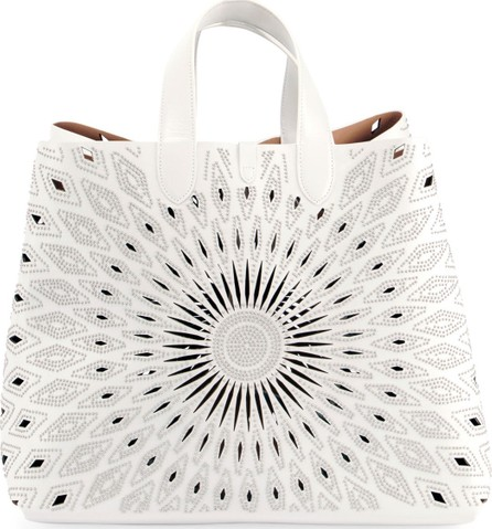 Alaïa Frida Large Ray-Studded Leather Tote Bag