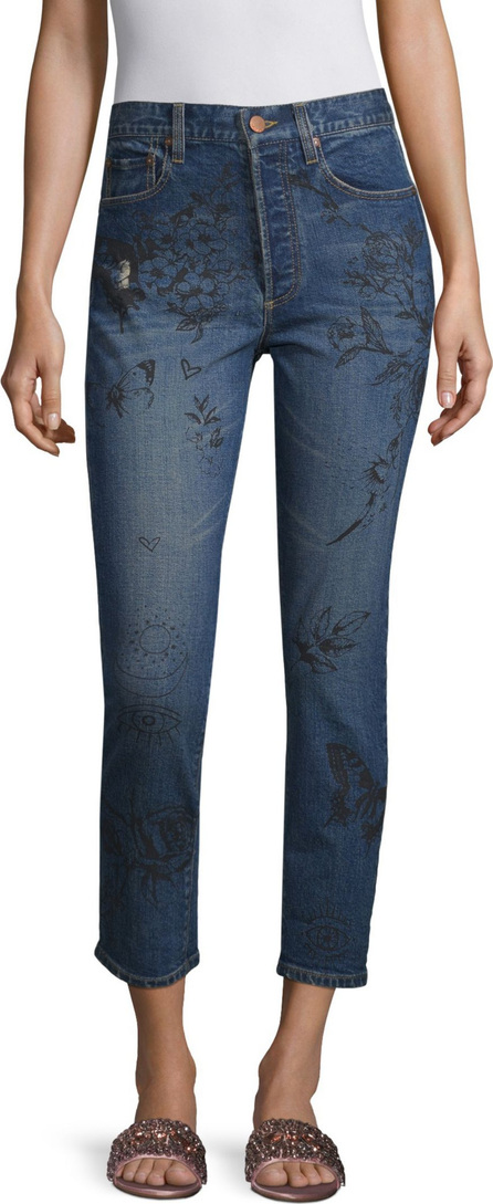 AO.LA by alice + olivia Painted High Rise Jeans